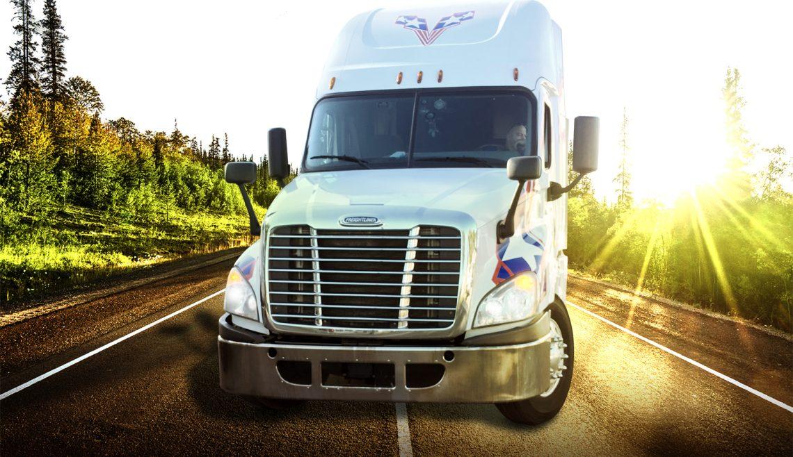 Veteran Carriers Truck On Open Road Savannah GA Trucking Service